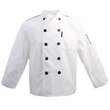 Five Star Chef Apparel Mens Womens Double Breasted Long Sleeve Chef Jacket Coat