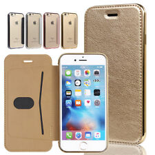 For iPhone Flip Card Slot Wallet Leather Case Transparent Silicone Holder Cover