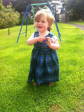 Girls Manx Tartan Pinafore Isle of Man Bridesmaid Dress