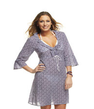 Mud Pie Fashion NAVY UMBRELLA ANNA BELL SLEEVE TUNIC 812043N Womens SML Cover Up