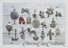 18pc Wizard of Oz Silver Charm Set Lot Collection / Ruby Red Slippers / #2