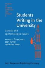 Students Writing in the University: Cultural and epistemological issues (Studies