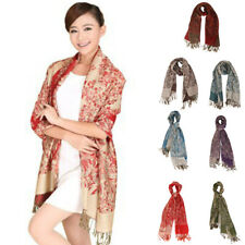 Fashion Women's Floral Long Tassel Pashmina Winter Shawl Wrap Scarf Cashmere