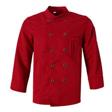 New Five Star Chef Apparel Mens Womens Long Sleeve Executive Chefs Coat Jacket