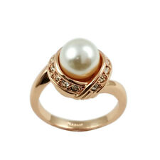 Fashion Jewelry - 18K Rose Gold Plated Imitation Pearl Ring (FR277)