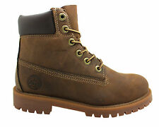 Timberland Authentic 6 Inch Kids Boots Youths Brown Leather Lace Up 80703 D36