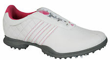 Adidas Driver Boa Technology Womens Golf Shoes Clima Proof White Pink Q44802 D43