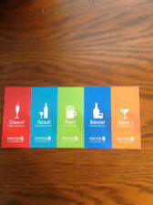 15 United Airlines Drink Coupons Gift Certificates Voucher  1/31/18 Expiration
