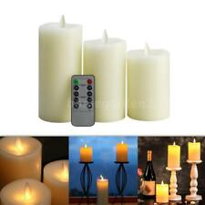 Electric Flameless LED Candle Light Remote Control Party Xmas Lamp & Timer B0L8