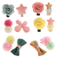 2Pcs Girl Infant Flower Star Hair Clip Bow Alligator Barrette Hairpins Accessory