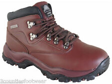 Ladies Walking Boots Brown Leather  -  Waterproof Hiking Boots - CLEARANCE