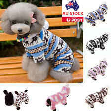 Dog Pet Cat Hoodies Coat Jacket Puppy Winter Warm Hooded Clothes Costume Apparel