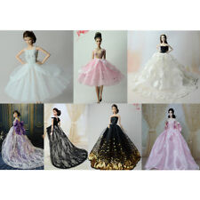 Handmade Dress Wedding Party Gown Fashion Clothes for Barbie Dolls Toy Gift