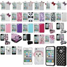 Color Bling Rhinestone Diamond Hard Case Cover Skin Accessory For iPhone 4S 4G 4