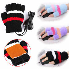 Fashion Laptop Heating Winter USB Warm Gloves Hands Heated Warmer Fingerless New