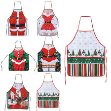 Funny Christmas Santa Tree Cooking Apron Novelty Catering BBQ Baking Costume