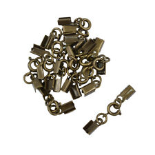 12pcs Antique Metal Clips Spring Clasp Crimp Ends DIY Jewelry Finding Making