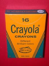 Vintage 1960's (1) 35 cent box 16 CRAYOLA CRAYONS Old Store Stock MIB mint NOS !