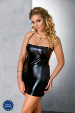 Mini Wetlook Dress Negligee Gothic Fetish Dominatrix Mini Dress Oversize S-7XL
