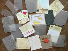 Stampin Up, Sizzix, Tim Holtz Holiday Embossing Folders Sizzlit ~ Valentines
