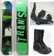 NEW TRANS FE SNOWBOARD, BINDINGS, BOOTS PACKAGE - 154cm