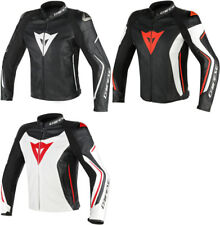 Dainese Mens Assen Armored Perforated Leather Jacket