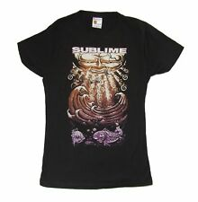 Sublime Under the Waves Girls Juniors Black T Shirt New Official