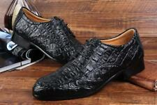 Men's Lace Up Formal Low Heels British Brogues Pointed Toe Dress Oxfords Shoes