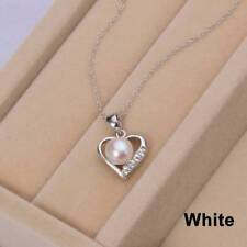 CYNMOON natural freshwater pearl pendant necklace heart shaped jewelry