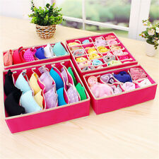 4pcs Foldable Divider Storage Bra Box Non-woven Underwear Organizer Container