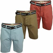 Mens Chino Shorts by Tokyo Laundry 'Crater' With Belt
