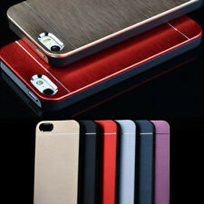 Luxury Metal Aluminum Brushed PC Back Case Cover For iPhone 4 4S 5 5S Exotic