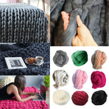 500g Super Soft Bulky Thick Chunky Wool Roving Yarn Arm Knitting Scarf Felting