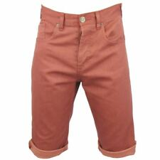 Tokyo Laundry Mens Coloured Jean Shorts 'Dragon' Contrast Roll Up