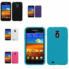 Silicone Rubber Skin Soft Case Cover for Samsung Epic Touch 4G D710 Galaxy S2