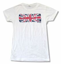 The Spice Girls Ginger UK Flag White Girls Juniors T Shirt New Official Soft