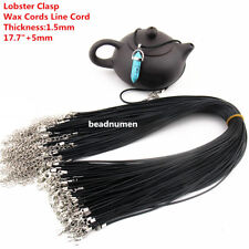 Wholesale 10/20/50/100pcs Lobster Clasp Wax Cords Line Cord Necklace 1.5mm