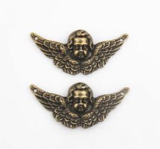Free Ship 10/90Pcs Bronze Angel Vintage Antique Pendants Charms Crafts 49*23mm