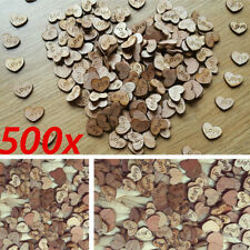 500pcs Rustic Wooden Wood Love Heart Wedding Table Scatter Decoration Crafts