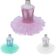 Girls Kids Ballet Dress Gymnastics Leotard Tutu Skirt Dance Ballerina Costume