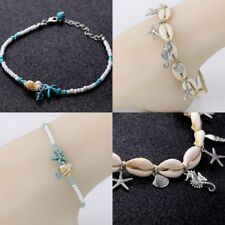 Silver Shell Starfish Anklet Ankle Bracelet Barefoot Foot Chain Women Jewelry
