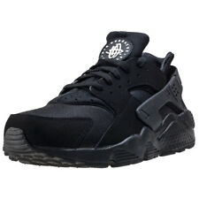 Mens Nike Air Huarache Mesh & Synthetic Black White Shoes Trainers Casual BNIB