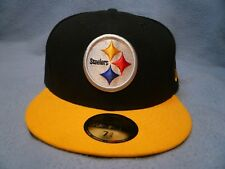 New Era 59fifty Pittsburgh Steelers BRAND NEW fitted cap hat black NFL Football