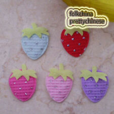 Cute Strawberry Glint Appliques Padded Craft Sewing Scrapbooking Patch Trimming