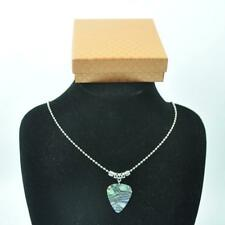Guitar Pick Plectrum Tibetan Silver 24'' Necklace 2.4mm Bead Chain With Gift Box