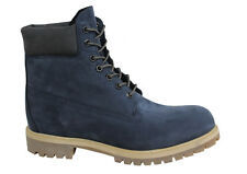 Timberland 6 Inch Premium Mens Lace Up Navy Suede Leather Boots A1LYH T1