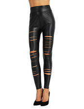 New Women's Stretch High Waist Slim Skinny Leggings Ripped Pencil Pants Trousers