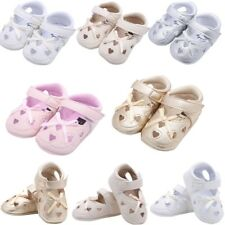 Newborn Infant Baby Girl Soft Sole Crib Shoes Sandals Toddler Bowknot Prewalker