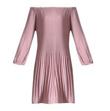 NWT DELFI COLLECTIVE Dusty Rose NELL Off The Shoulder Dress Sz XS Sz S  290814F