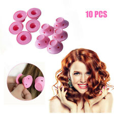 Women Soft Curly Hair Curlers Natural Long Hair Rollers DIY Hairstyle Maker Pink